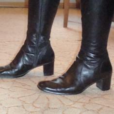 Cizme piele italienesti magazin LEONARDO - Cizma dama, Culoare: Negru, Marime: 41, Piele naturala