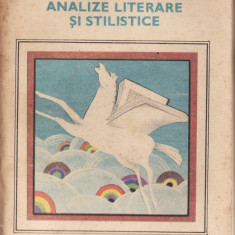 ANALIZE LITERARE SI STILISTICE de ION ROTARU