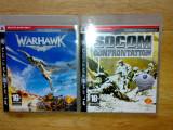 Vand 2 jocuri ps3  Socom Confrontation + Warhawk pentru playstation 3