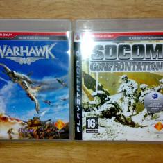 Vand 2 jocuri ps3 Socom Confrontation + Warhawk pentru playstation 3, Simulatoare, 12+