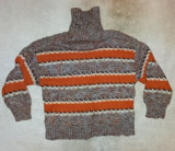 Handmade pulover lana, marimea S, unicat, ca nou., Magenta