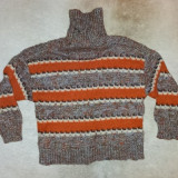 Handmade pulover lana, marimea S, unicat, ca nou.