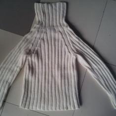 Pulover alb de la Express, marimea S, ca nou, 85% acrilic, Acril