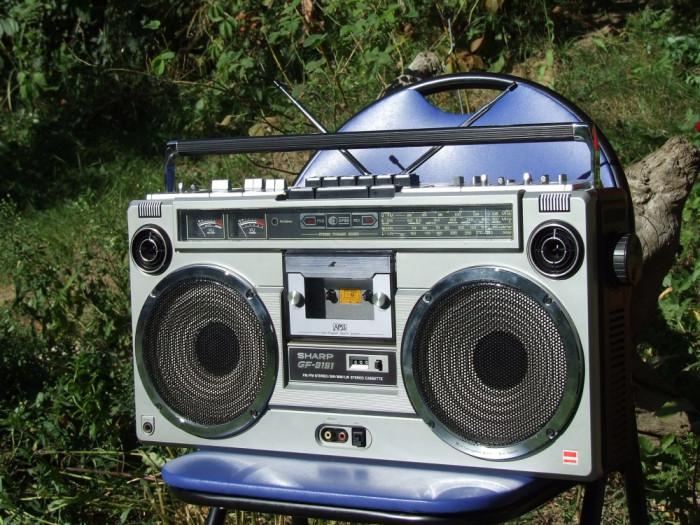 SHARP GF 9191 BOOMBOX RADIO CASETOFON RADIOCASETOFON GHETTO BLASTER foto mare