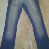 Blugi originali de la Spoon Jeans, bumbac, ca noi, marimea S (3 USA) - Blugi dama, Marime: S, Culoare: Albastru, Drepti, Lungi, Normala