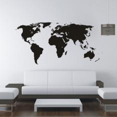 Tatuaj de perete, Sticker Decorativ - Harta Lumii,