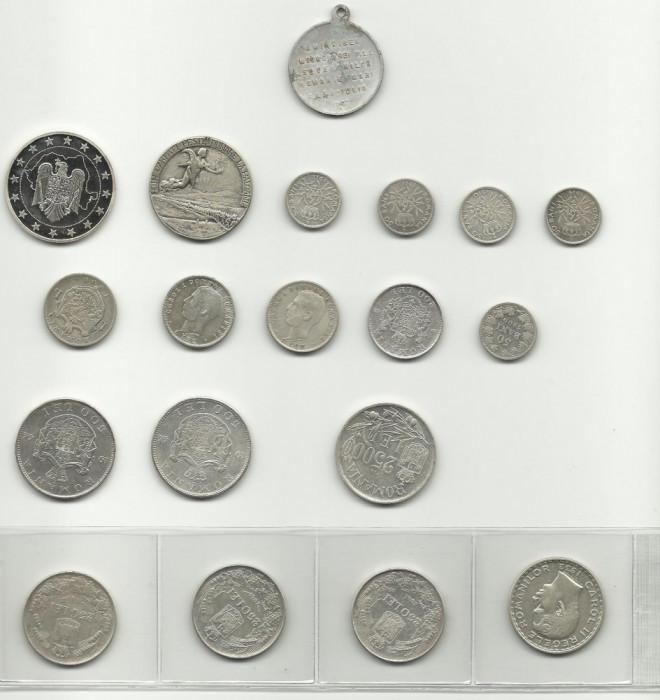 monezi romanesti argint foto mare
