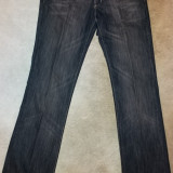 Blugi dama de la Zara, din bumbac, marimea S (34), usor folositi, Culoare: Negru, Evazati, Lungi, Normala