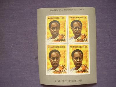 Ghana 1961  ziua  nationala  MI  bl.5 foto
