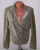 Jacheta sacou catifea DKNY marime M USA, Donna Karan