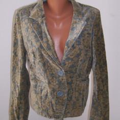 Jacheta sacou catifea DKNY marime M USA - Jacheta dama Donna Karan, Marime: M, Culoare: Din imagine