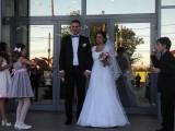 rochie de mireasa alba  cu broderie