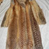 Haina dama de blana din vulpe roscata - haina de blana