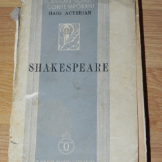 HAIG ACTERIAN - SHAKESPEARE. 1938 - Carte traditii populare