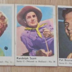 CARTONASE OLANDEZE DE LA GUMA DE MESTECAT - ACTORI. ANII 60 - Cartonas de colectie