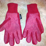 Manusi dama rosii din piele de la Thinsulate, marimea S, usor folosite, Marime: Alta, Culoare: Din imagine