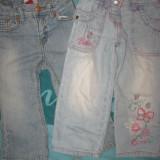 Set 2 perechi jeansi, impecabili, pt. 2-3 ani