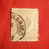 Timbru 15 C 1873 Suriname -Col.Olandeza , stamp.