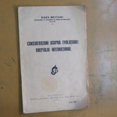 Radu Meitani Consideratiuni asupra evolutiunei dreptului international 1932