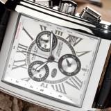 CEAS de LUX, SWISS MADE : HAAS et CIE, chronograph, data, se vinde la pret MINIM ! ! ! - Ceas barbatesc, Lux - elegant, Mecanic-Automatic, Piele ecologica