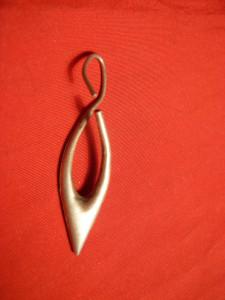 1 Cercel vechi - Argint , L= 5,3 cm , m= 1,7 g