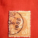 Timbru 2 Centi 1890 Suriname -Col.Olandeza , stamp.
