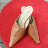 Pantof PAPUC piele CARLA SELLINI nr37 - Pantof dama, Culoare: Maro, Maro