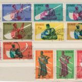 Serie 15 timbre Guineea 1962, Africa de sud, Oameni