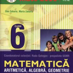 MATE 2000 11/12 - ARITMETICA, ALGEBRA, GEOMETRIE PARTEA A II A CLASA A VI A de DAN ZAHARIA ED. PARALELA 45 - Manual scolar paralela 45, Clasa 6
