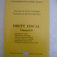 Drept fiscal- volumul 2 - Carte Drept financiar
