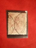 Timbru 5 Kr. 1900 Fr.Josef ,stamp. Ungaria ( Austro)