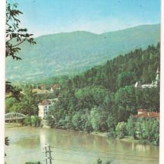 Carte postala(ilustrata)-CALIMANESTI-Pe malul Oltului - Carte Postala Oltenia dupa 1918, Circulata, Printata