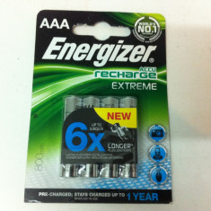 Set bateri de 4 bucat ,, Marca ENERGIZER AAA de 800mAh ''