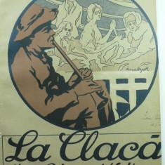 4 - PARTITURA MUZICALA DE COLECTIE - LA CLACA - MARE POTPOURII NATIONAL - J. PASCHILL - GRAFICA MINA BYCK (1900-1964 )