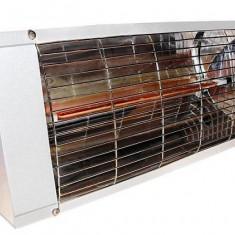 Sisteme de incalzire industriale, electrice - Lampile cu Infrarosu IP 20 BAMA 2000 W Albe pentru hale, terase, ateliere, garaje