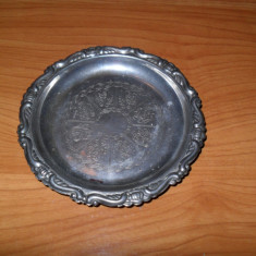 Scrumiera, silver plated