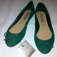 Balerini ZARA verde / verzi marimea 36. Noi, cu eticheta! - Balerini dama