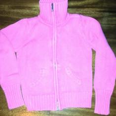 Pulover fete din bumbac de la Greendog, masura 6, ca nou, Culoare: Roz