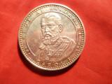 Placheta Argint -140 Ani de la inceperea Domniei Carol I -1866-2006