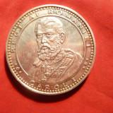 Placheta Argint -140 Ani de la Incoronarea Carol I -1866-2006 - Medalii Romania