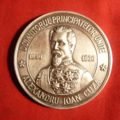 Placheta Argint 800/1000 Al.Ioan Cuza -Muzeul Unirii 2007-103,2g