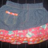 Fusta Papla din jeans, cu volane, noua, suberba, pt. 6-9 luni