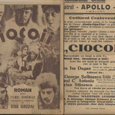 CIOCOII - film romanesc in regia lui Horia Igirosanu,editie 1931,cu autograf + afis cinema