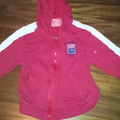 SH: Bluza groasa de trenning de la M-Haier, 9 ani, 130 cm, usor folosita, Culoare: Rosu, Rosu, Fete