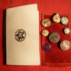 Colectie Insigne Militare Yugoslavia in Carnet Original
