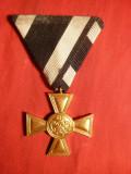 Crucea de Aur Prusaca 1918 - Militara , bronz aurit