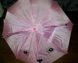 Umbrela roz desen pisicuta cu urechiuse, cu fluier la maner, noua