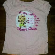 Tricou bumbac de la Greendog, Happy Hula, fete 4-6 ani, ca nou, Culoare: Roz