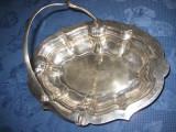 318a-Splendida Fructiera veche cosulet in alama argintata, perioada interbelica.