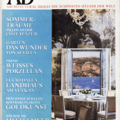 AD ARHITECTURAL DIGEST IN LIMBA GERMANA DIN IULIE 1999 - Revista casa